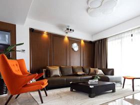 混搭風現代休閑質感三居室裝修效果圖