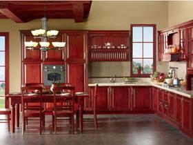 中式古典風格整體廚房櫥柜