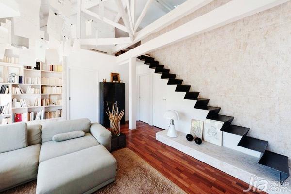 楼梯死角设计--电视背景墙-巧用居室空间 24个楼梯死角精彩设计