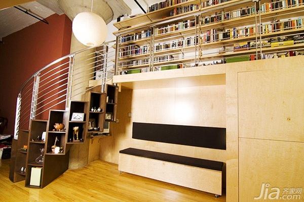 楼梯死角设计--电视背景墙