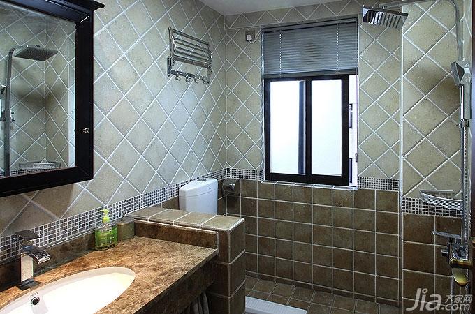 花样拼贴地砖 打造18款多样风情卫浴图片