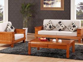 客厅组合实木沙发