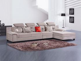 小户型布艺转角沙发组合