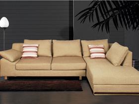 E型布艺转角沙发