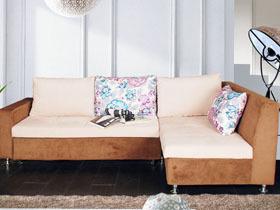 多功能实木框架转角沙发
