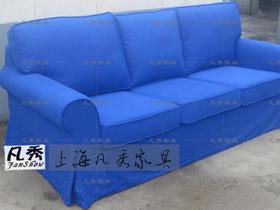 宜家风格全棉帆布三人沙发