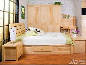 风雅松测评:新西兰松木横线床+床边柜 原木飘香!
