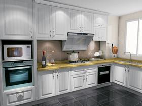 6-8平廚房L型定制櫥柜