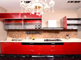 紅色魅影不銹鋼整體櫥柜