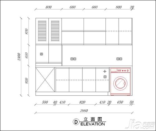 橱柜的平面图分析