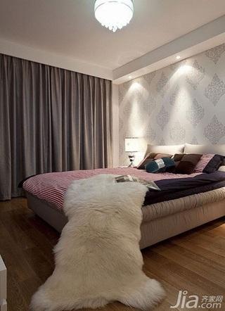 简约风格时尚咖啡色卧室婚房家装图