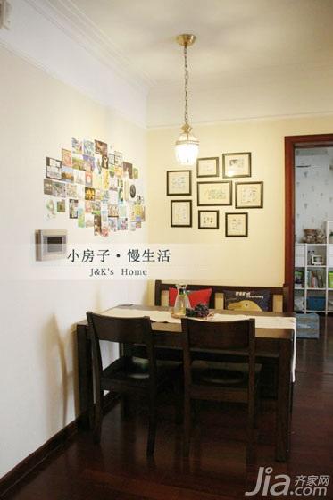 美式风格两室一厅温馨60平米装修图片