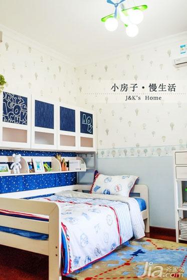 美式风格两室一厅温馨60平米儿童房设计图纸