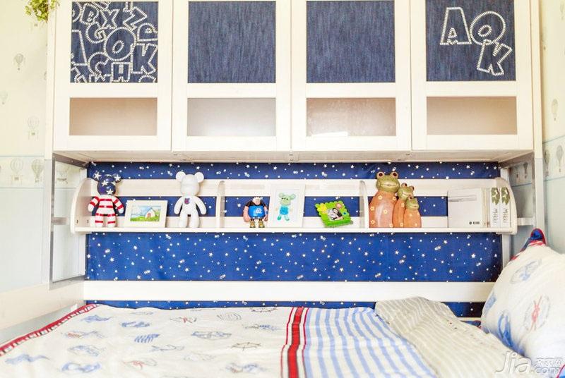美式风格两室一厅温馨60平米装修效果图