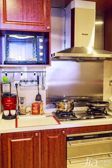 美式风格两室一厅温馨60平米厨房设计图纸