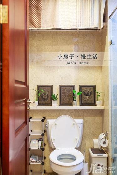 美式风格两室一厅温馨60平米效果图