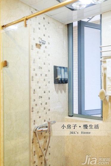 美式风格两室一厅温馨60平米卫生间装修