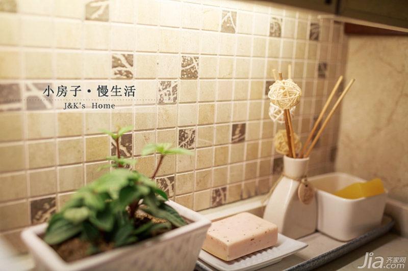 美式风格两室一厅温馨60平米设计图纸