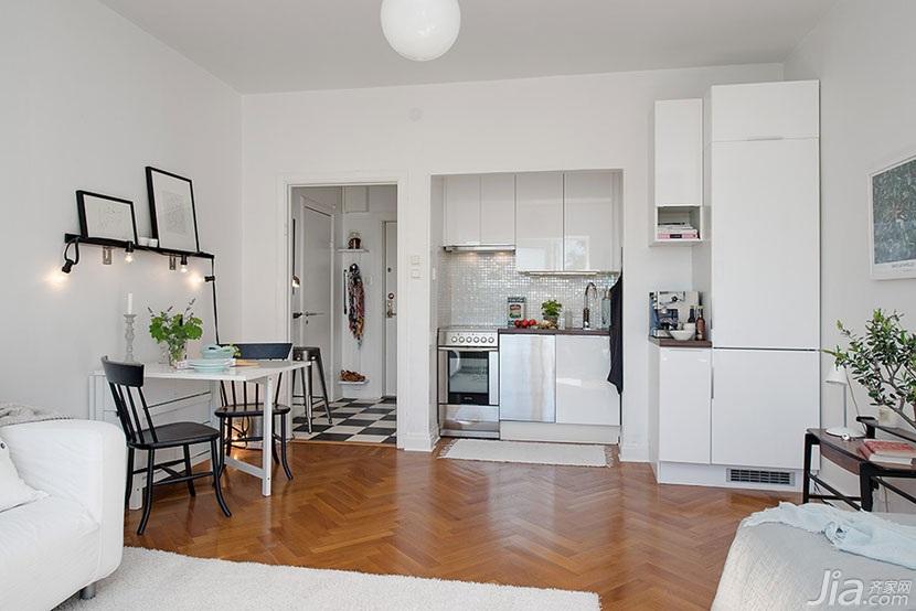 现代简约风格白领公寓装修效果图