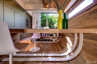 现代简约风格一室一厅时尚餐桌效果图