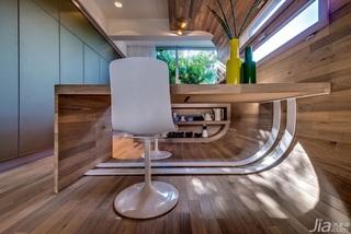 现代简约风格一室一厅时尚吧台吧台椅效果图