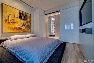 现代简约风格一室一厅时尚卧室背景墙装修效果图