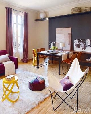 混搭风格富裕型90平米阳光房装潢