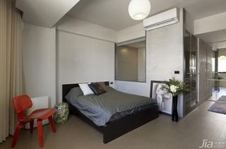 简约风格一室一厅灰色设计图