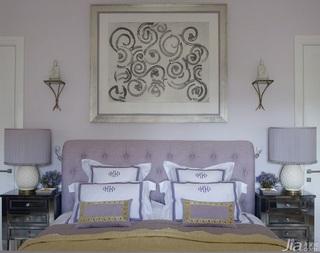 美式风格三室两厅艺术客厅床效果图