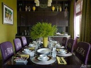 美式风格三室两厅艺术餐厅餐桌效果图