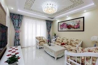 田园风格两室一厅小清新10-15万80平米效果图