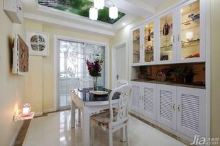 田园风格两室一厅小清新10-15万80平米餐边柜效果图