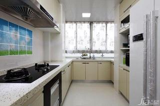 田园风格两室一厅小清新10-15万80平米厨房装修图片