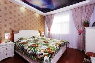田园风格两室一厅小清新10-15万80平米卧室卧室背景墙设计