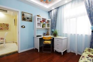田园风格两室一厅小清新10-15万80平米书房装修
