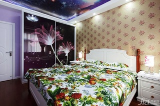 田园风格两室一厅小清新10-15万80平米卧室衣柜整体衣柜效果图