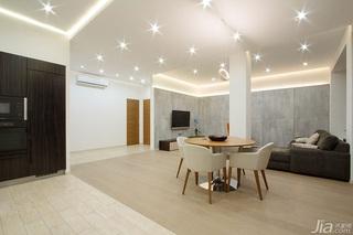 简约风格120平米客厅灯光效果图
