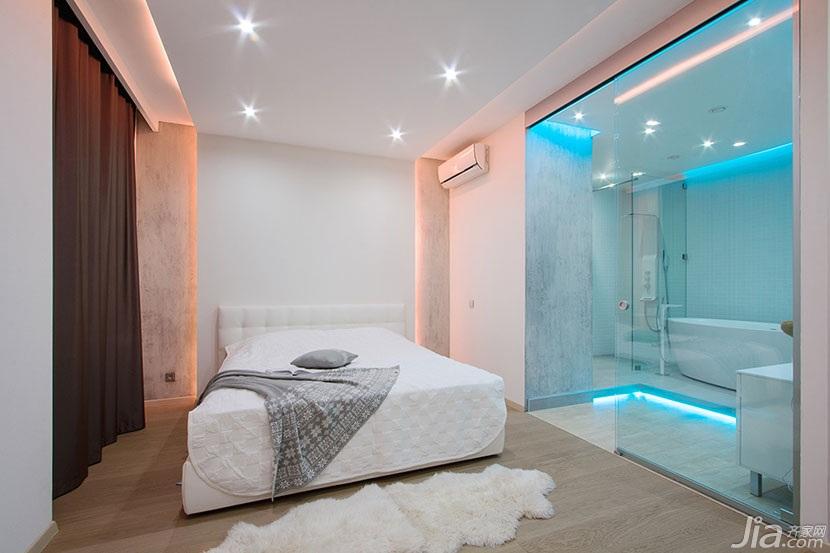 简约风格绿色120平米卧室灯光效果图