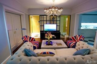英伦风格一室一厅艺术100平米装修效果图