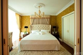 英伦风格一室一厅艺术100平米卧室床图片