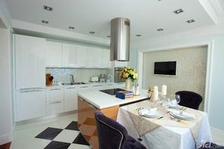 英伦风格一室一厅艺术100平米开放式厨房设计图纸
