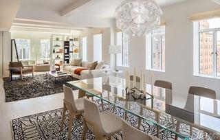 现代简约风格一居室餐厅水晶灯图片