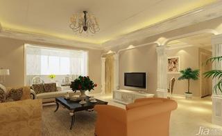 欧式客厅电视背景墙客厅灯效果图
