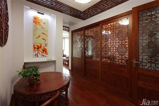 中式风格一室一厅稳重隔断设计图纸