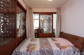 中式风格一室一厅稳重效果图