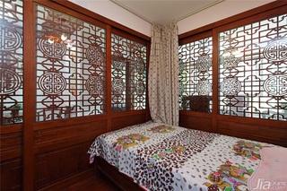 中式风格一室一厅稳重卧室效果图