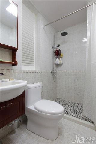 中式风格一室一厅稳重卫生间效果图