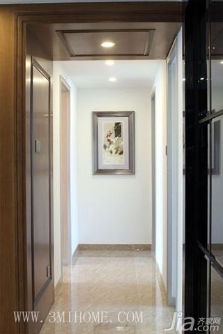 三米设计混搭风格三居室富裕型过道效果图