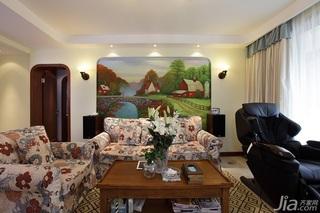 地中海风格三居室温馨设计图