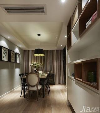 美式风格二居室时尚咖啡色旧房改造家装图